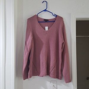 Ann taylor knitted bkush pink sweater top